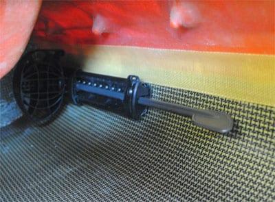 P & H Plastic Twist Lock Footrest from Northeast Kayaks