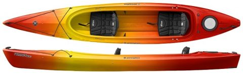 Perception Prodigy II 14.5 with Rudder Sunset from Northeast Kayaks