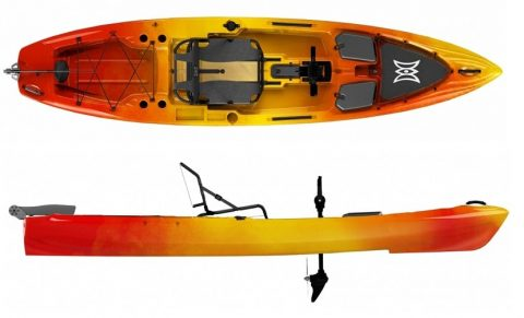 Perception Pescador Pilot 12 sunrise from Northeast kayaks