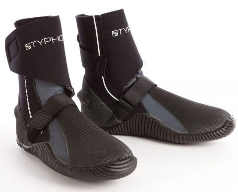 Typhoon p5 Wrap boots from Northeast Kayaks