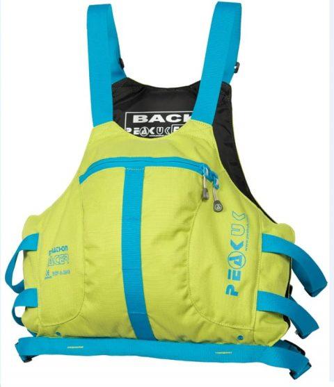 Peak Marathon Racer Vest PFD/Buoyancy Aid Lime/Blue from Northeast Kayaks