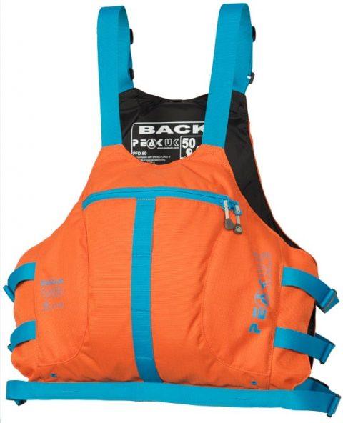 Peak Marathon Racer Vest PFD/Buoyancy Aid Orange/Blue from Northeast Kayaks
