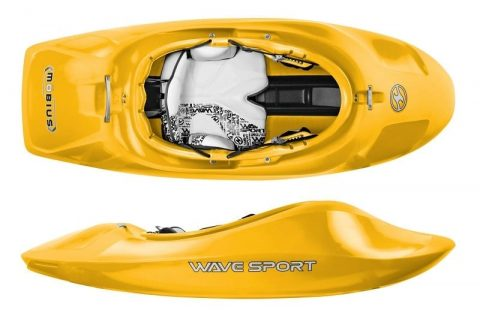 Wave Sport Kayak Mobius WhiteOut-Cyber Yellow-65 from Northeast Kayaks