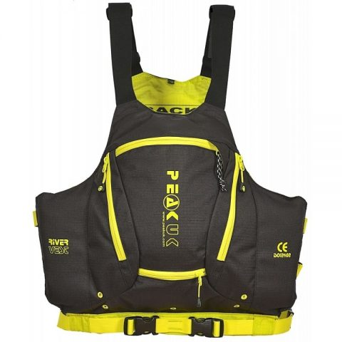 Peak UK River Vest PFD/Buoyancy Aid Black-0