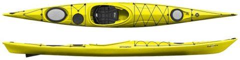 Perception Kayak Essence 17 Sea Kayak Yellow from Northeast Kayaks