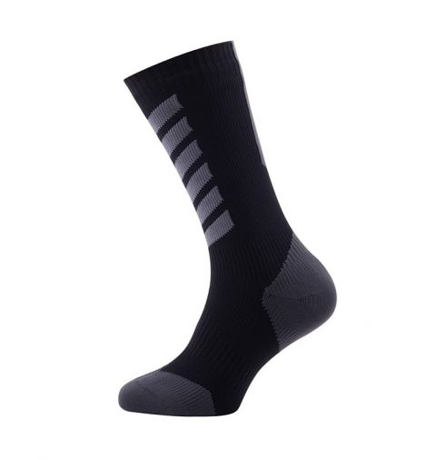 SealSkinz MTB Mid Mid Waterproof Socks with Hydrostop Black from Northeast Kayaks