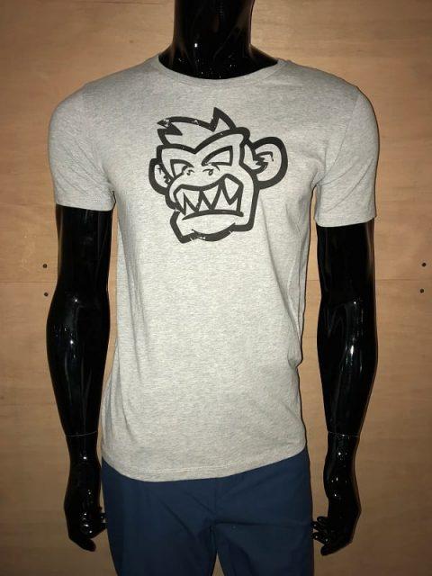 Kayak Monkey T-shirt Heather Grey from Northeast Kayaks