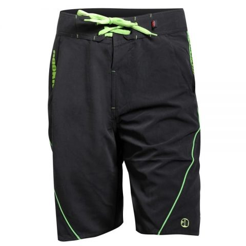 Nookie Board Shorts/Boardies black and Blue Front from Northeast Kayaks