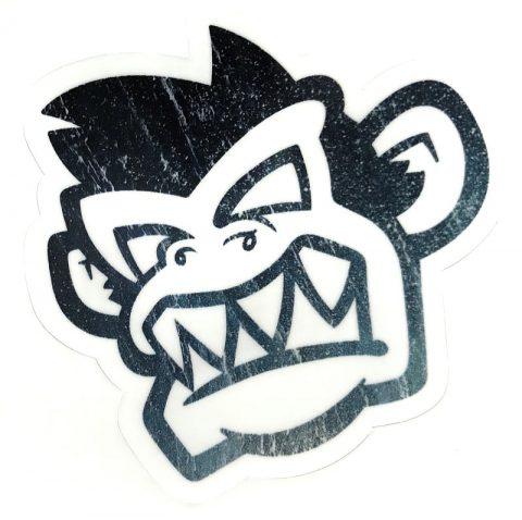 Kayak Monkey Sticker Black Fade - Face from Northeast Kayaks