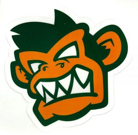 Kayak Monkey Sticker Green - Face from Northeast Kayaks