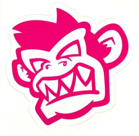 Kayak Monkey Sticker Pink - Face from Northeast Kayaks