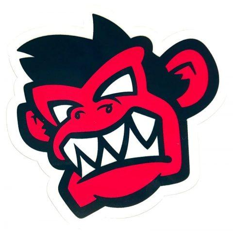 Kayak Monkey Sticker Red - Face from Northeast Kayaks