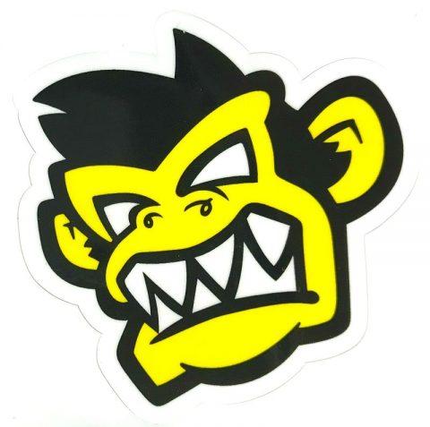 Kayak Monkey Sticker Yellow - Face from Northeast Kayaks