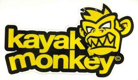 Kayak Monkey Logo Sticker Yellow from Northeast Kayaks
