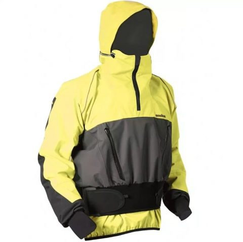 Nookie Storm Cag / Jacket Front - Yellow/Grey from Northeast Kayaks
