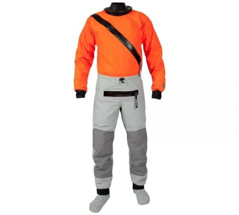 Kokatat Swift Entry Hydrus 3.0 Drysuit with socks and relief zip in Tangerine from Northeast Kayaks