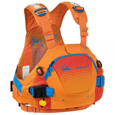 Palm FXr PFD / Buoyancy Aid Sherbet/mandarin from Northeast Kayaks