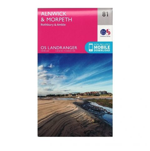 OS Landranger Map 81 - Alnwick & Morpeth